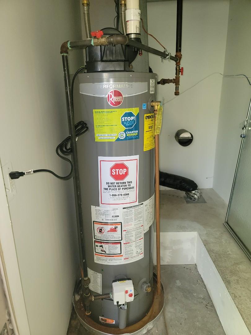 Clinton Township, MI - Service on Rheem Water Heater