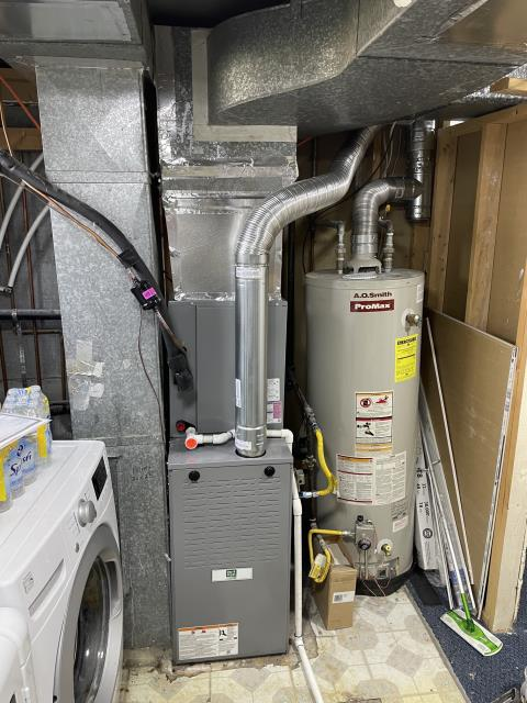 Replace heat and AC system. Day and Night two stage furnace and single stage air conditioner installation.