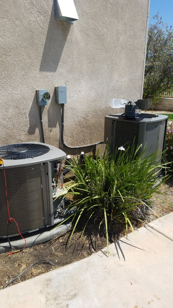 Temecula, CA - Doing a two system air conditioner maintenance in Temecula