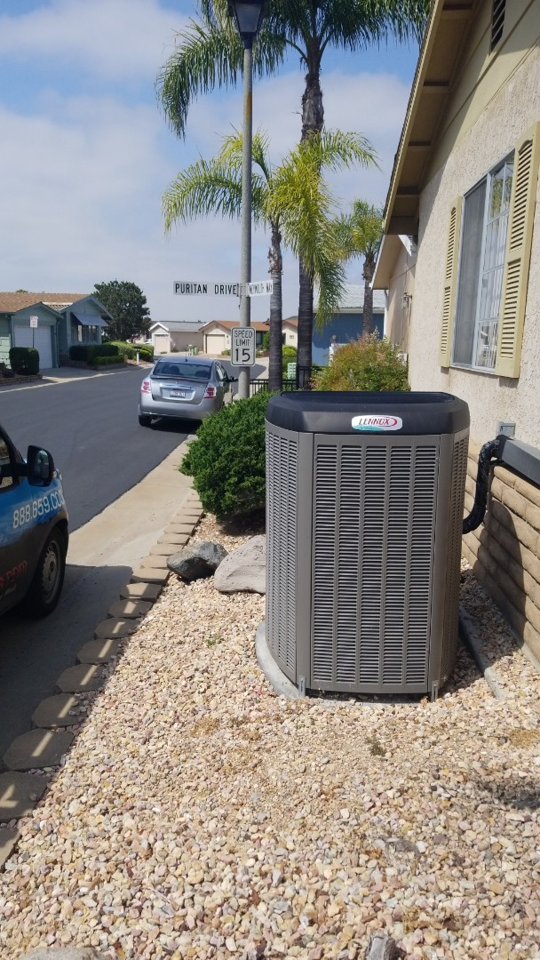 Doing a single system Lennox Maintenance out here in Oceanside