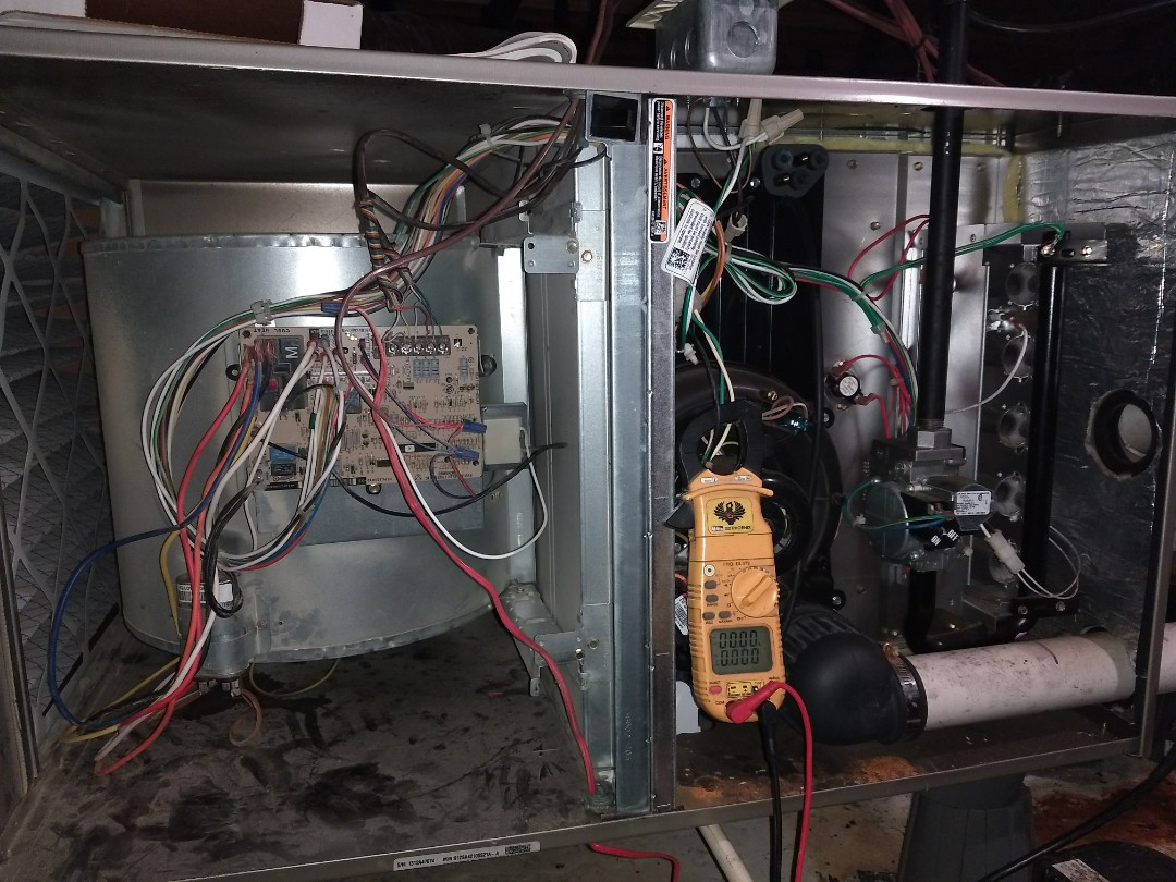 Nashville, TN - Performing a Heat maintenance on a Bryant furnace in Nashville, TN. Cleaned unit & checked all components. Everything is operating great!