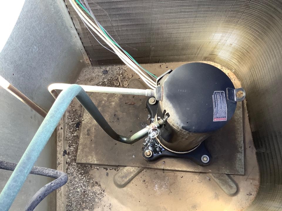 Visalia, CA - Found a leak at compressor. I'm going to fix it.