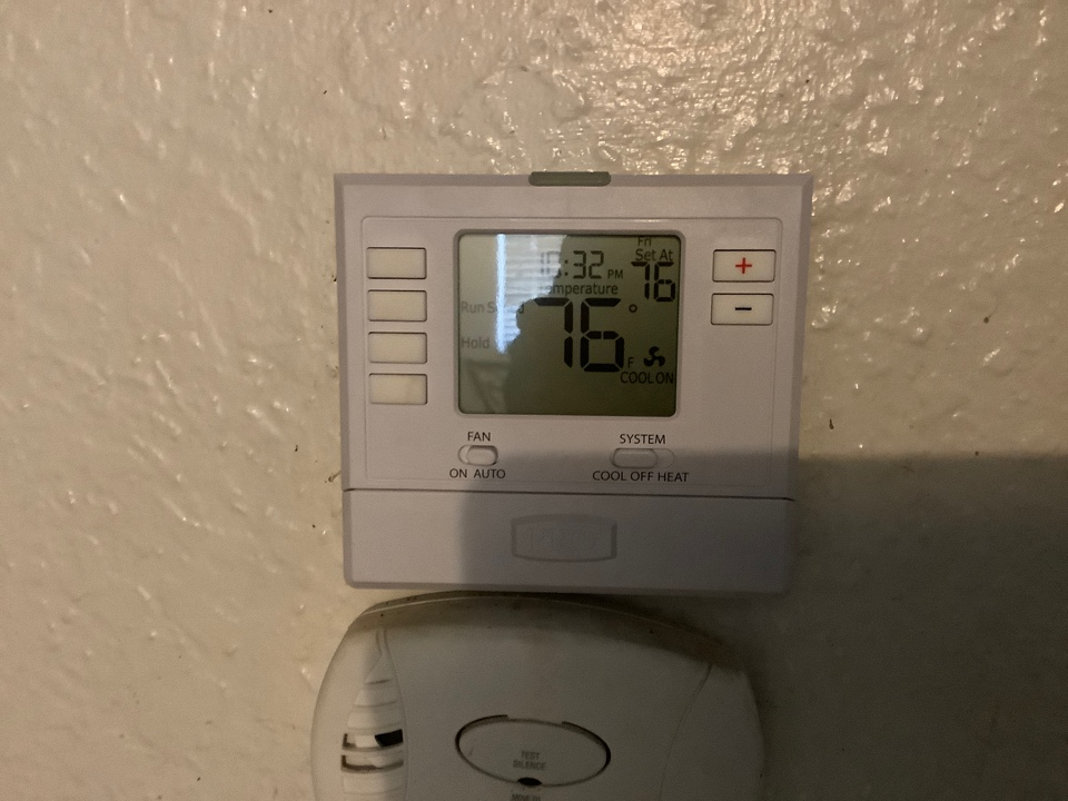 Visalia, CA - Had a no cooling call. Went inside and found a bad thermostat. Swapped out thermostat for a new one and system is operating properly at this time. The customer is happy.