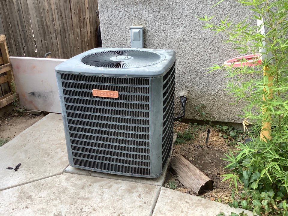 Visalia, CA - Found a leak in evaporator coil, charged system with R-22 until owner makes a decision. Was able to get temporary cooling for now.