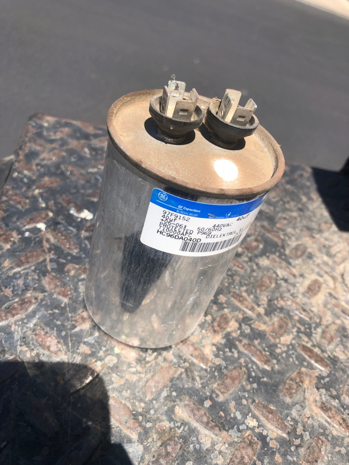 Visalia, CA - Infinity unit system malfunction check an found compressor not running, found a bad capacitor, replaced ac pressure an unit cooling ok