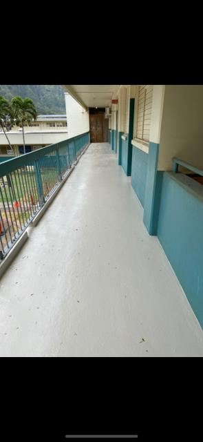 Waimanalo, HI - We had a awesome time, putting this waterproofing gaco system down for this small commercial walkway project at blanch pope school.