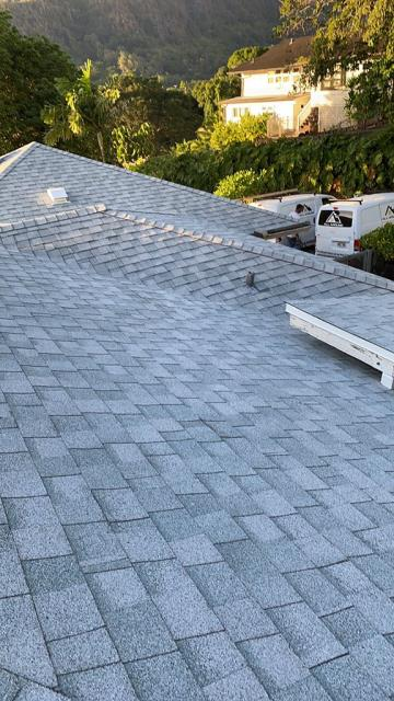 Honolulu, HI - This was a lovely couple with a aging roof that needed to be completely removed and replaced with CertainTeed landmark shingles. We enjoyed making these home owners happy with their new roof.