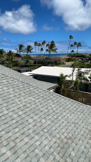 Honolulu, HI - Such a beautiful property, this roof is looking spectacular with its new CertainTeed shingles, it also has a great color that reflects heat in the home.