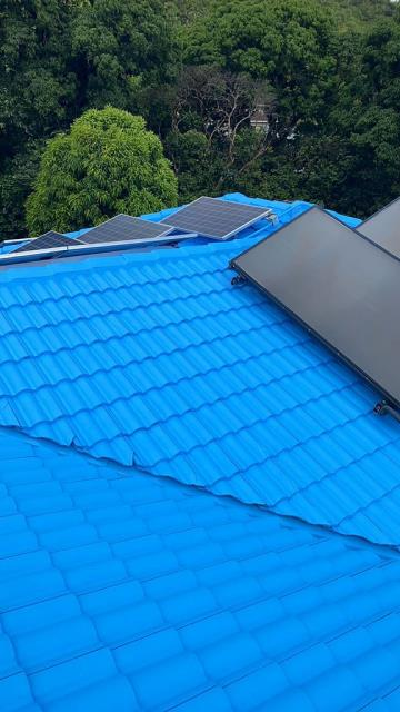 Kaneohe, HI - Another happy customer using NXT Cool Coat with a Beautiful custom color. We loved working on this tile roof, and to see the great finish.