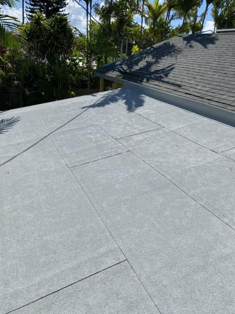 Kailua, HI - Here we worked on a low pitched roof and we installed Modified Bitumen with some wood work as well. This customer was so lovely to work with.