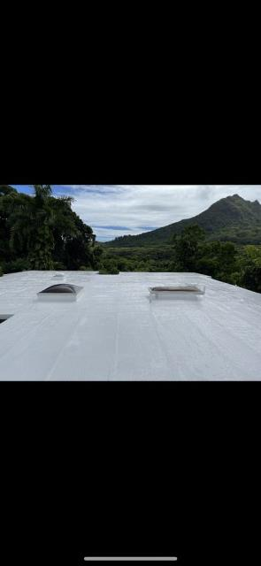 Kailua, HI - We had a great time at this beautiful property doing a Gaco Coating System over this Roof. This roof is ready for any weather Hawaii has to offer now.