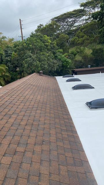 Kailua, HI - Another great Gaco Coating Project over this Roof. We put this Gaco System down and resealed all penetration. Great Roofing Project Completed!