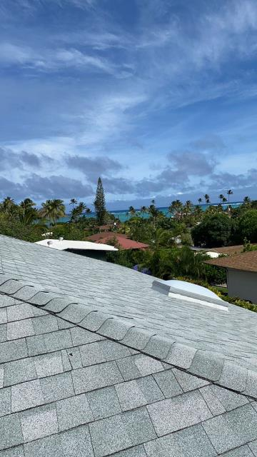 Kailua, HI - Beautiful home we got to work on this week. This home was a Re Roof, Tare off and Install New CertainTeed Shingles. This home will really benefit from this roof for many years to come.