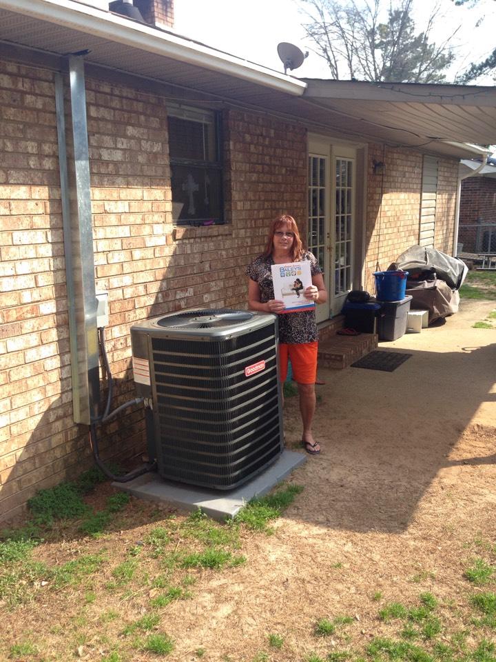 Martinez, GA - New 14 seer heat pump split system installation!