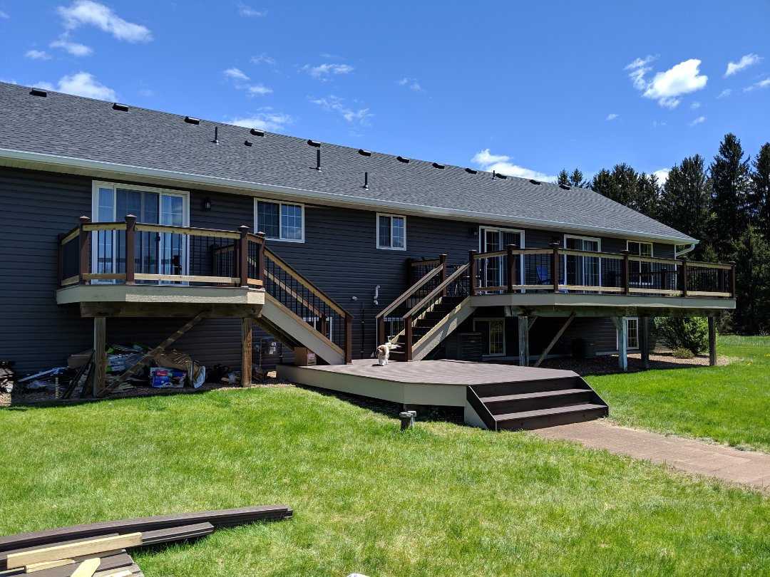 Somerset, WI - Installed trex transcend deck boards and railing system Somerset Wisconsin