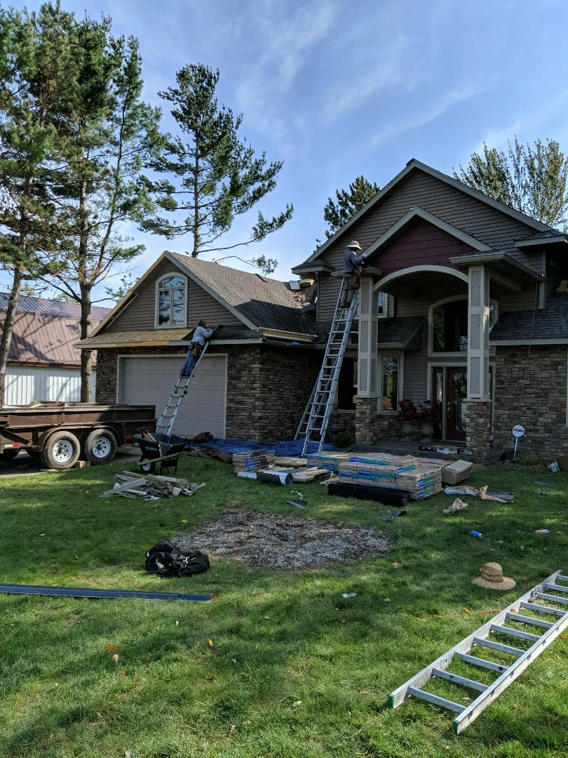 Turtle Lake, WI - Installing certainteed landmark asphalt shingles, color weathered wood