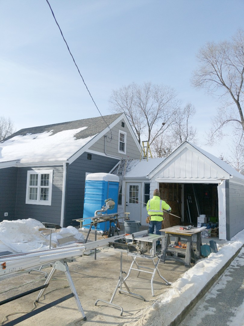 Hudson, WI - Final touches on the project siding LP smartside and trim