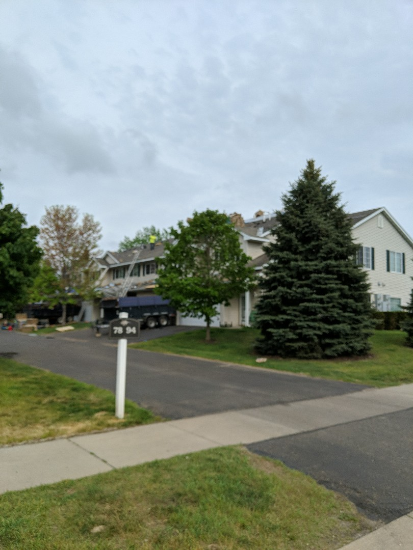 Hudson, WI - Starting another HOA at the lighthouse villas in Hudson. Once again using Landmark CertainTeed weathered wood asphalt shingles