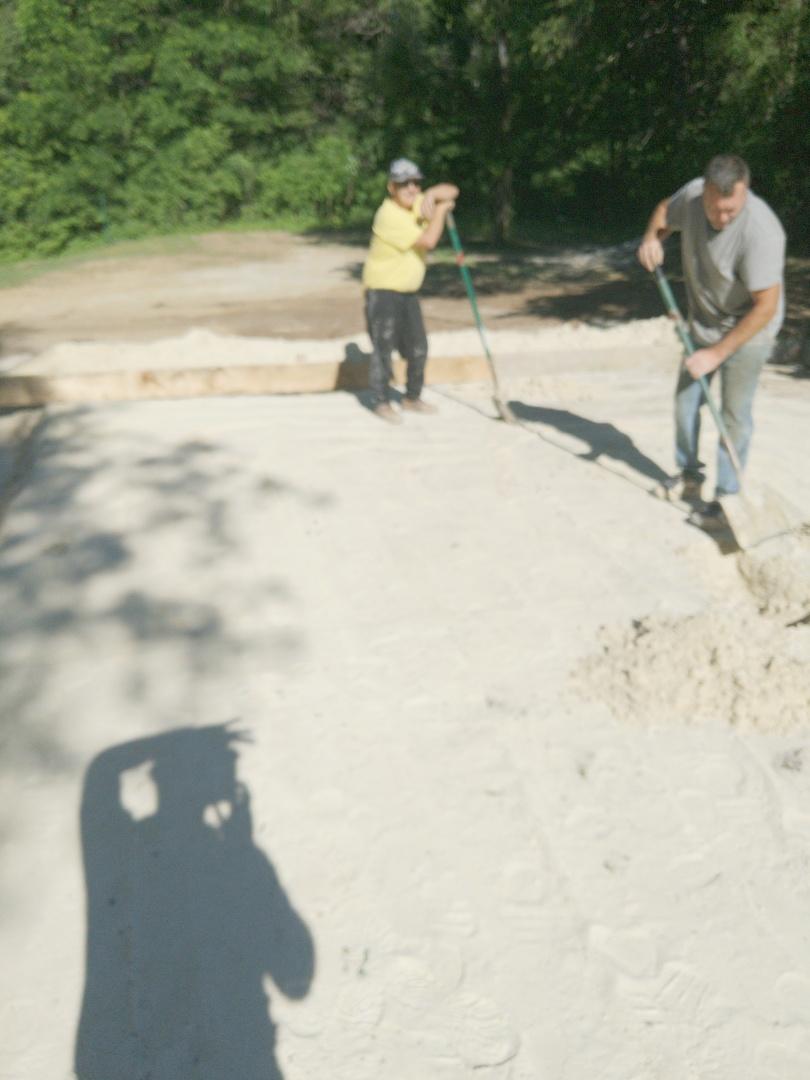 Hudson, WI - Installing concrete slab for 24x30 detached garage project