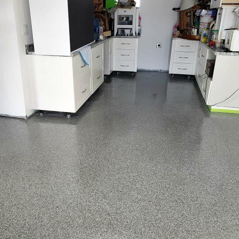 Wasilla, AK - Looking for a custom chip blend for a unique granite design to use in your garage? Graniflex Concrete Resurfacing is our one-of-a-kind solution for you!