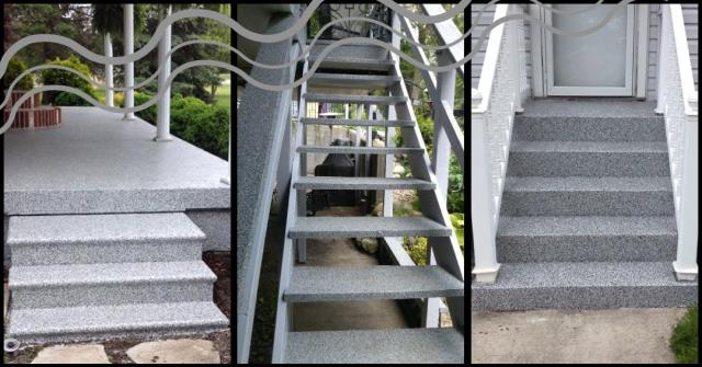 Rapid City, SD - GRANIFLEX your stairs to prevent slippery accidents and water build-up!!
