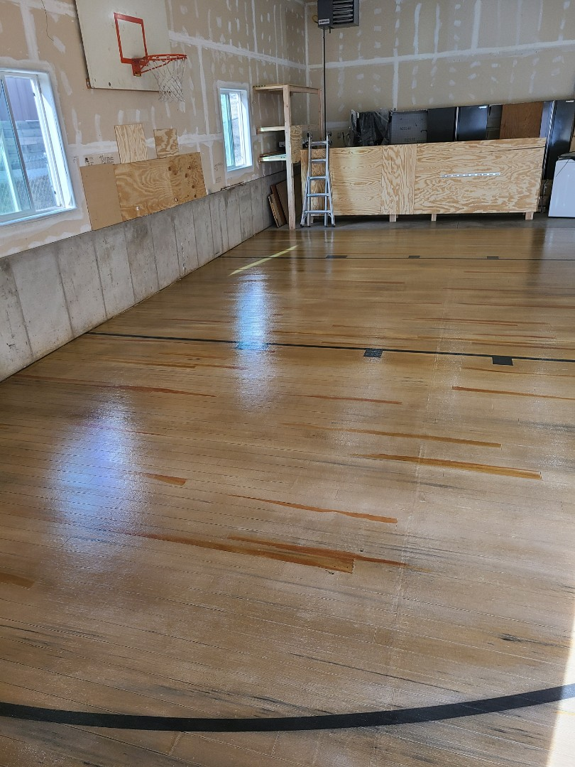 Rapid City, SD - We finished the last touches today on this garage floor Rustic Wood concrete resurfacing project for a customer in Rapid City, SD.
