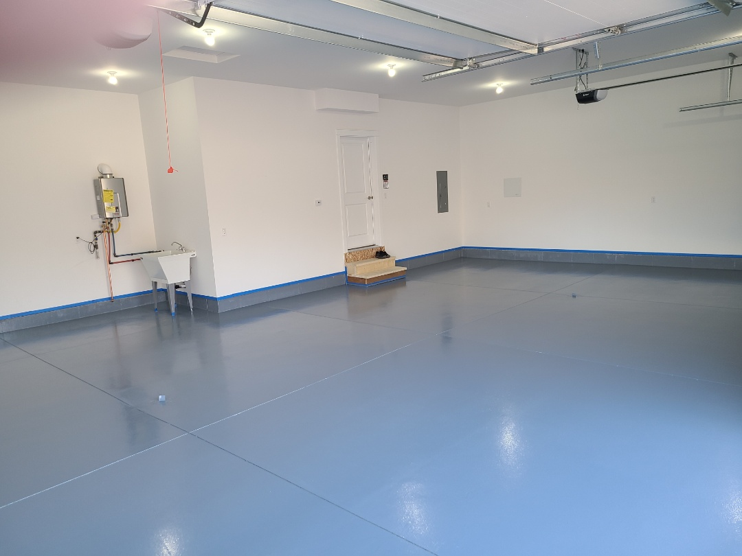 Anchorage, AK - Finished putting the last touches on this garage resurfacing job.