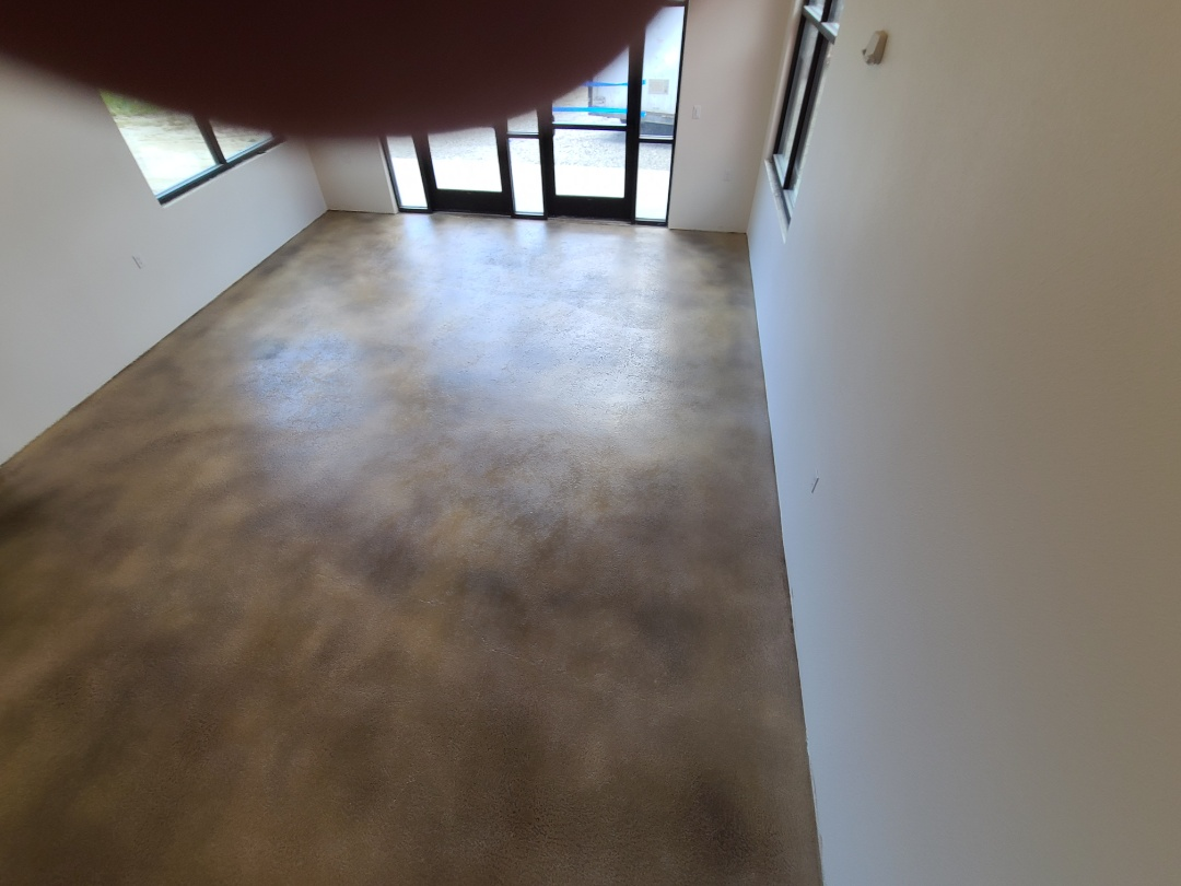 Anchorage, AK - The crew just finished this metallic concrete floor coating. Near Anchorage Alaska.