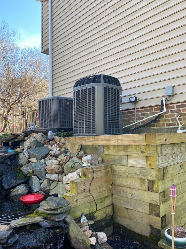 Phoenix, MD - Installed new outdoor fan motor to repair trane heat pump system