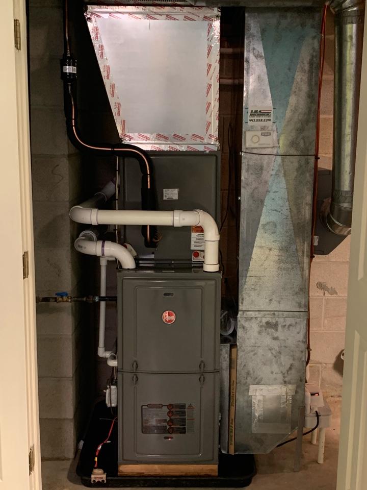 Cockeysville, MD - 16 deer dual fuel heat pump with furnace