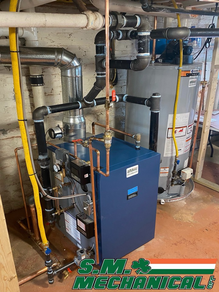 Baltimore, MD - We're installing a gas power vent water heater and gas steam boiler.