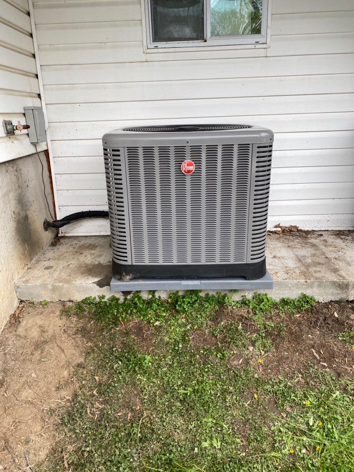 Rosedale, MD - Changeout, straight A/C unit and a gas furnace inside