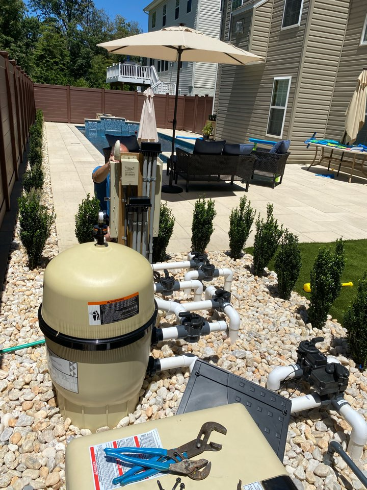 Arnold, MD - Installed new gas line for customers new pool heater and ran from bge meter.