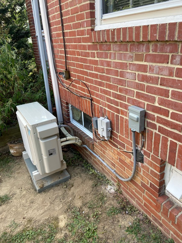 Catonsville, MD - Daiken mini split system installed and tested working beautifully to cool the finished attic space in an old house