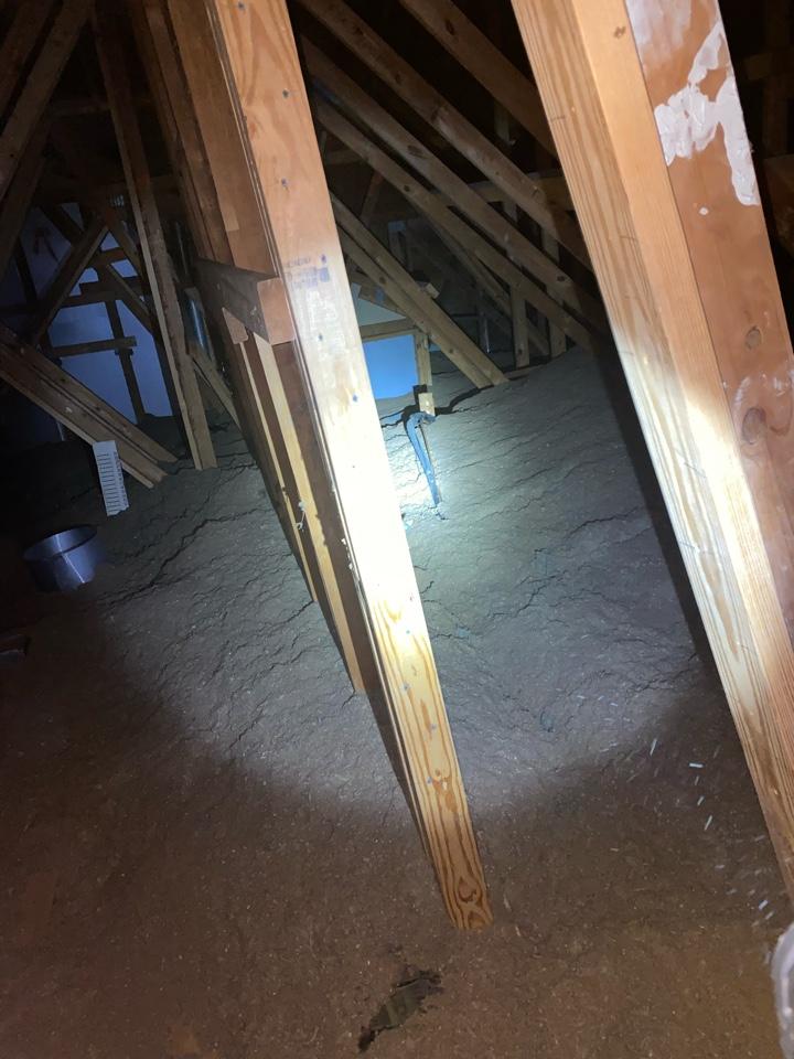 Bel Air, MD - Running a new Lineset through an attic space on a condo HVAC install of a heat pump
