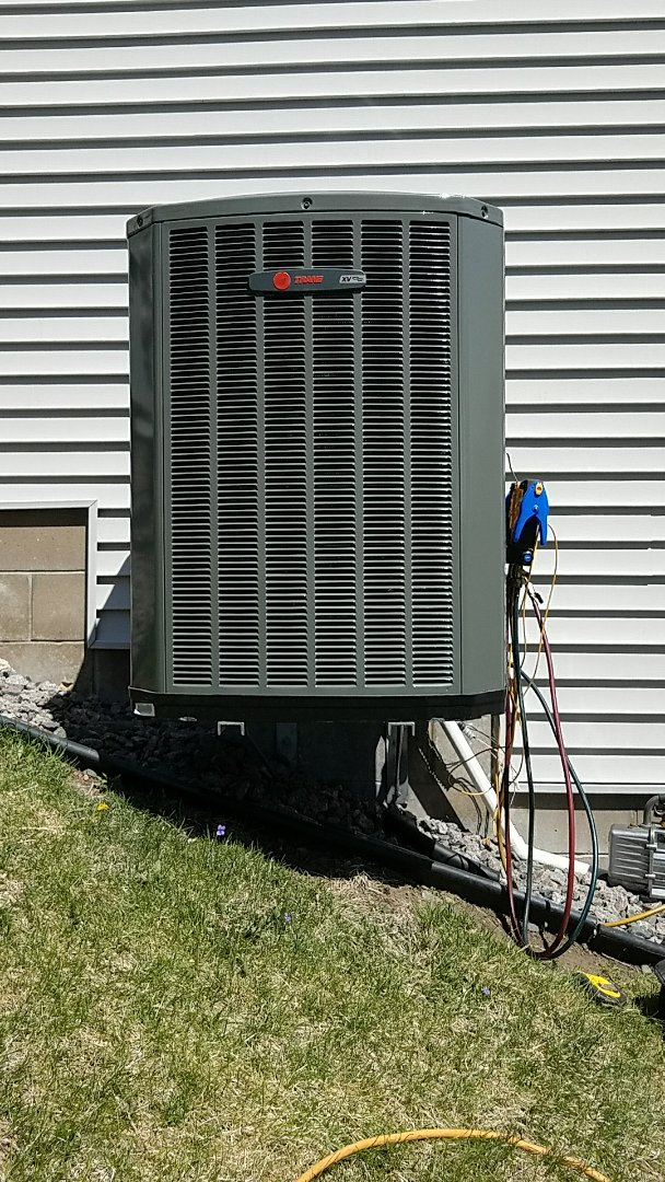 Eagan, MN - Ac Service call. Install a Trane variable speed air conditioner.