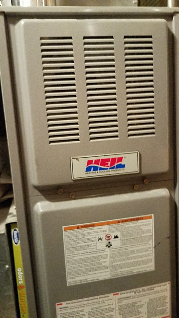 Eagan, MN - Doing a preventative maintenance tune up on a Heil furnace