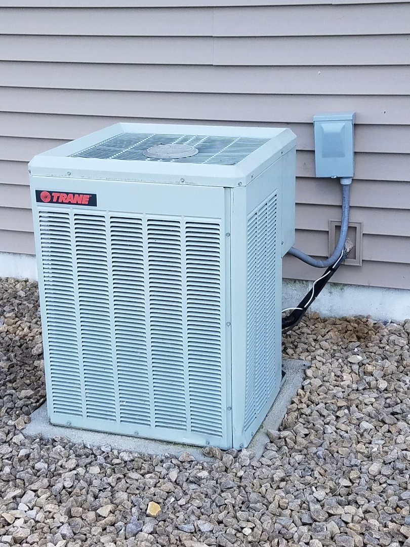 Lakeville, MN -  AC service call. Performed a repair on a Trane air conditioner. Replace capacitor