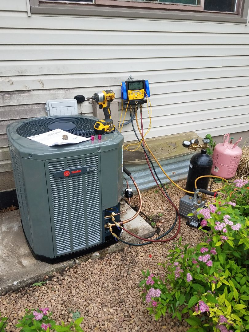 Rosemount, MN - Ac service call. Install Trane air conditioner