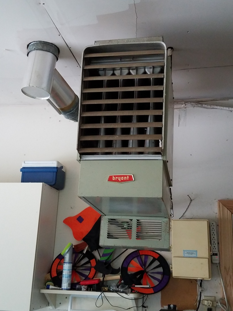 Apple Valley, MN - Furnace service call on a Bryant system. Install Reznor unit heater