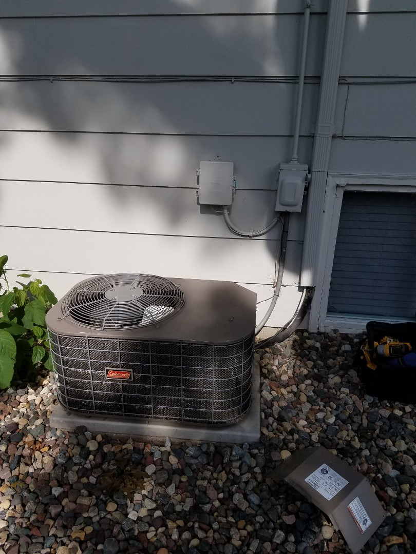 Burnsville, MN - Air Conditioning service call. Performed a ac repair on a coleman system. add refrigerant