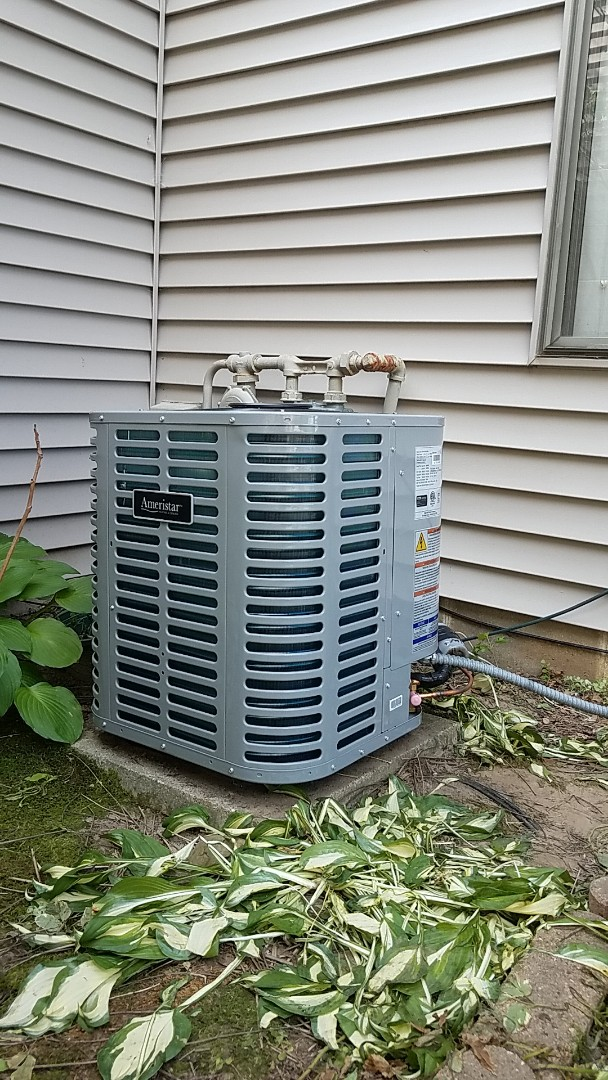 Eagan, MN - Ac service repair call.  Performed a installation Ameristar air conditioner