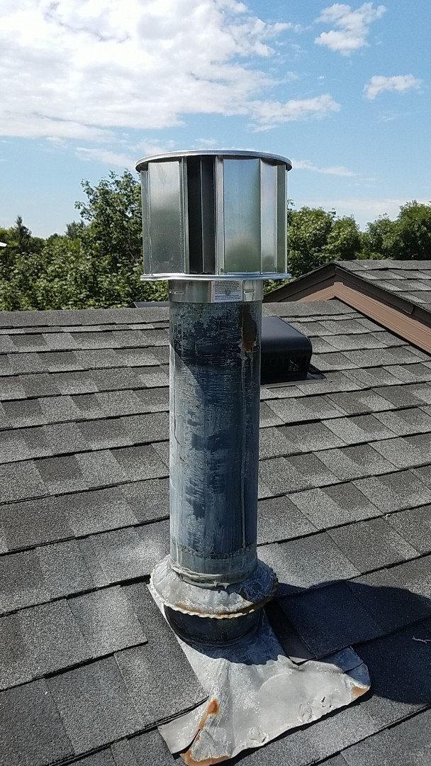 Eagan, MN - No heating service call. Performed a repair on Furnace vent