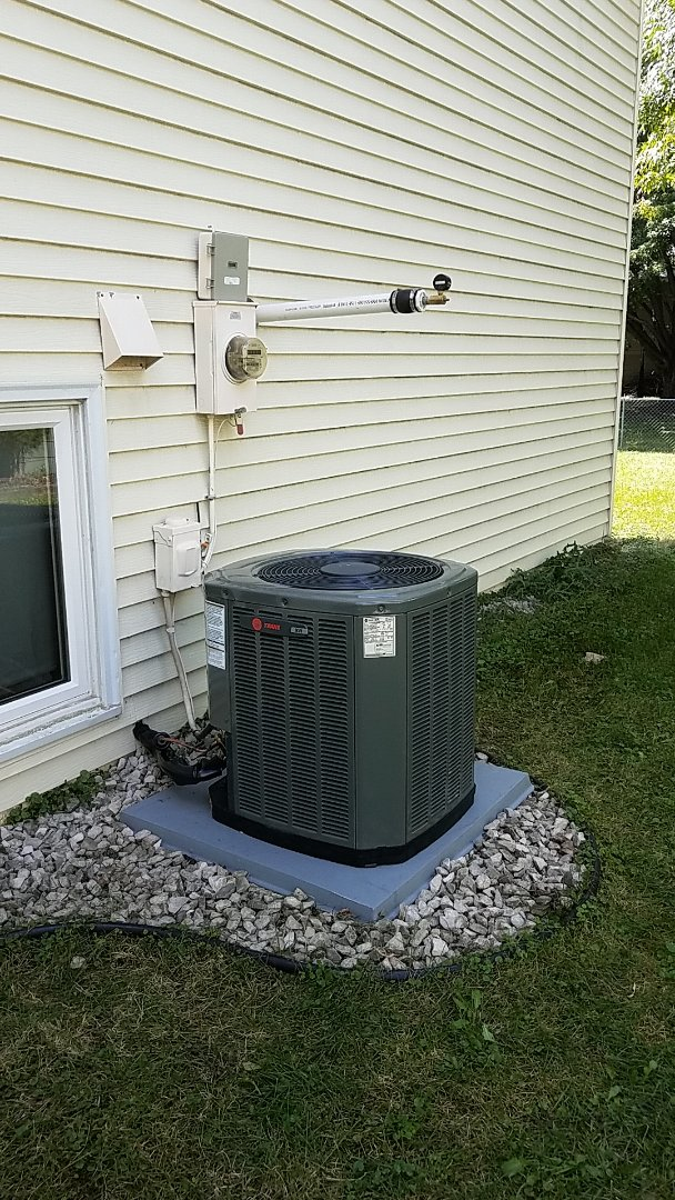 Eagan, MN - Furnace repair. Performed a service on a replacement of a Trane furnace and air conditioner