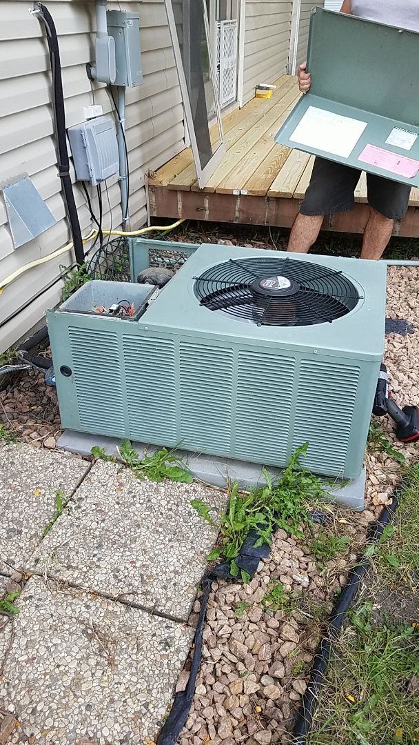 Apple Valley, MN - Ac repair.  Performed a repair on a Ruud air conditioner