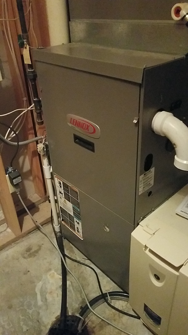 Eagan, MN - Heater repair. Performed a service on a Lennox furnace