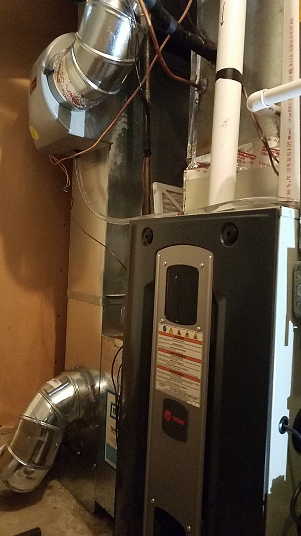 Eagan, MN - Furnace repair.  Performed a install of a Trane furnace and humidifier