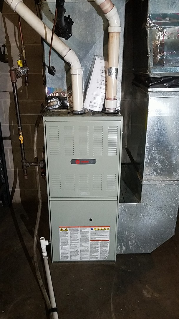 Eagan, MN - Furnace repair performed a install on a Trane furnace