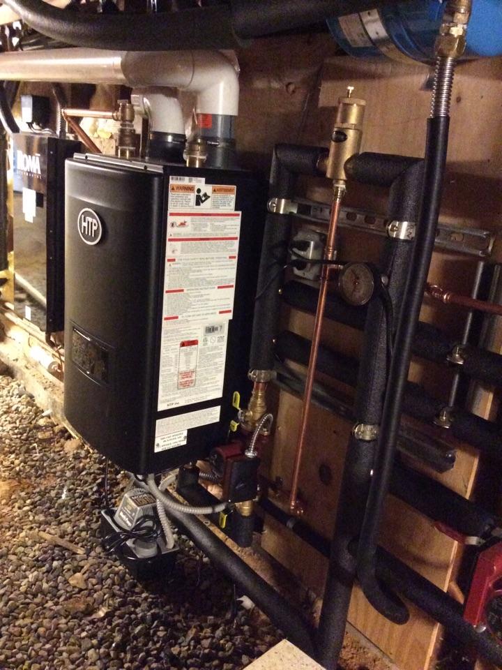 New Installation of a HTP boiler.