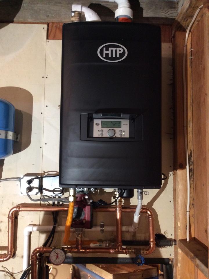 New HTP boiler installation
